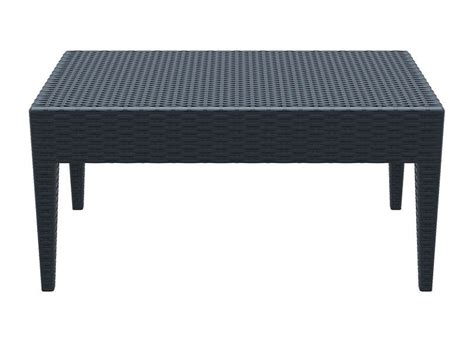 table de jardin en resine tressee pas cher table basse de jardin