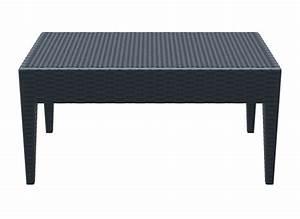 Table Basse Resine Tressee : table basse resine tressee noir pas cher le bois chez vous ~ Teatrodelosmanantiales.com Idées de Décoration