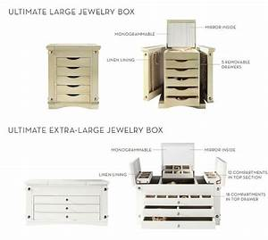 ultimate extra large mirrored jewelry box pottery barn With extra large mirrored letters