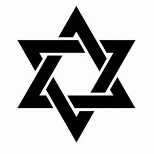 Star of David Jewish Star Seal of Solomon Vinyl Sticker ...