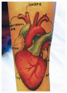 Heart Diagram  Tattoo
