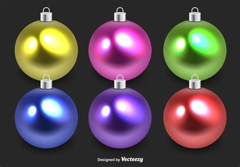 colorful glass christmas spheres download free vector