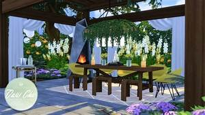Oasis Chic Dining Outdoor Set At Simsational Designs