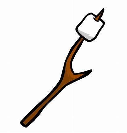 Marshmallow Clipart Roasting Clip Marshmallows Stick Campfire