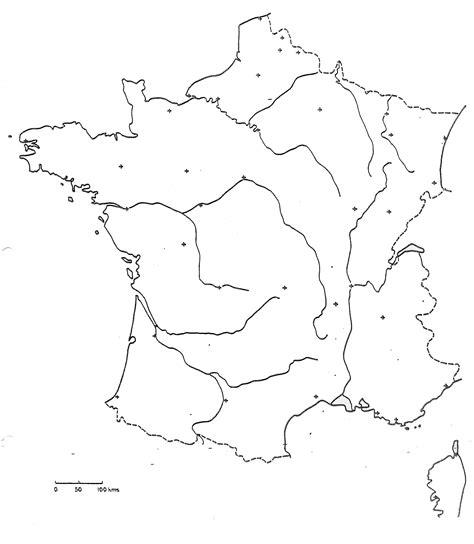 Fond De Carte Vierge Villes by Carte De Vierge A Imprimer Avec Les Fleuves The