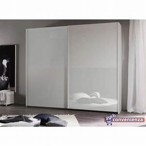 Smart 26 armadio 2 ante scorrevoli bianco scorrevole for Armadio on line