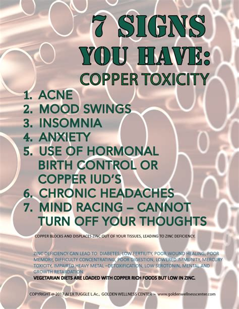 copper toxicity symptoms  treatment