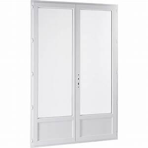 Porte fenetre pvc primo 2 vantaux ouvrant a la francaise h for Porte fenetre double vitrage pvc