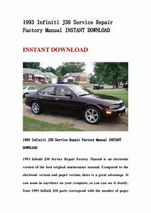 Manual Repair Free 1993 Infiniti J Transmission Control