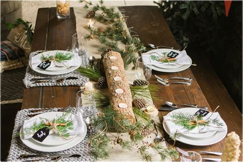 rustic christmas table setting     check
