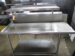 Commercial Stainless Steel Work    Prep Table W   Overhead