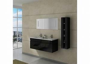 Meuble Double Vasque Noir : meuble double vasque dis980n ~ Teatrodelosmanantiales.com Idées de Décoration
