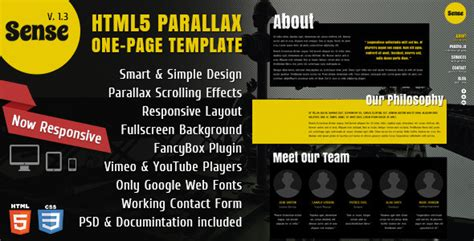 Best 2012 Parallax Scrolling Website Templates Entheos