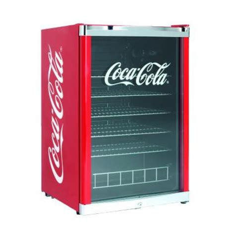 chambre froide professionnel frigo vitrine coca cola à boissons 115l découverte