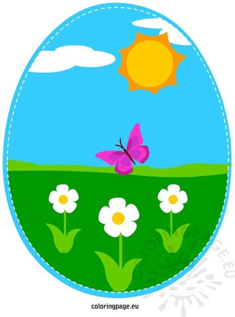 colorful easter egg coloring page