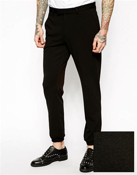 ASOS | ASOS Skinny Fit Smart Joggers In Jersey