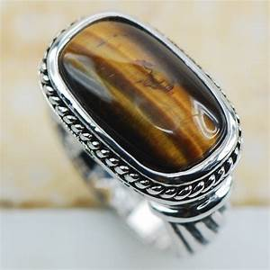 Aliexpresscom buy tiger eye 925 sterling silver top for Best quality wedding rings