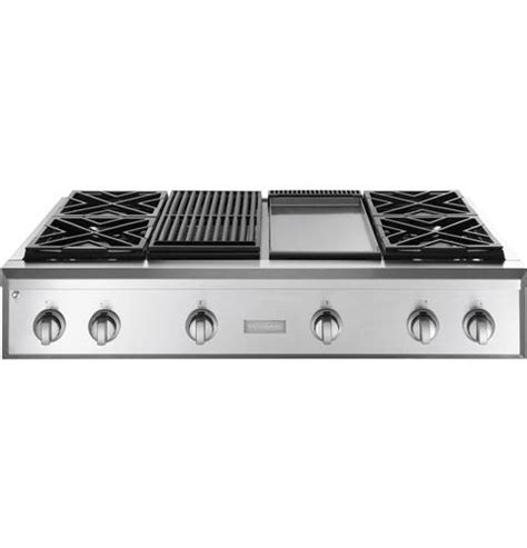 gas cooktop with grill monogram 174 48 quot professional gas rangetop with 4 burners
