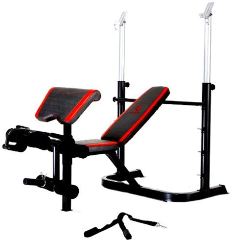 marcy bench press marcy deluxe olympic bench with flip arm curl pad