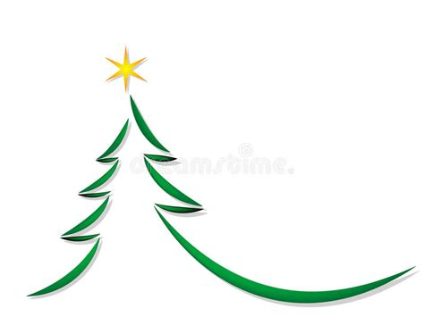 Simple Christmas Tree Stock Vector. Image Of Background