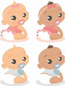 Cute baby vector of foreign Free Vector / 4Vector