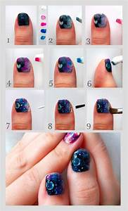 Nail art pen and brush for perfectness easy step by
