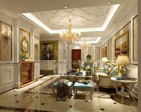 interior european style living room design  cgtrader