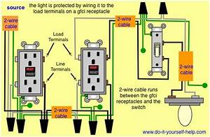 Gfci Wiring With Protected Switch And Light