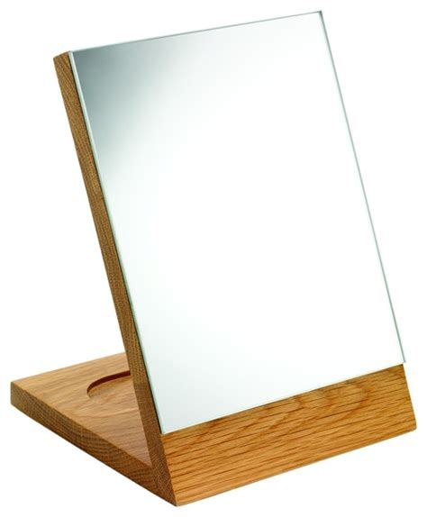 Bathroom Mirror Free Standing by Croydex Wa681076 Free Standing Mirror In Oak Traditional