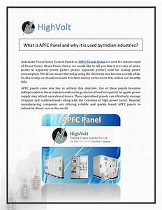 Reasons Why  Apfc  Panels Are Used In Indian Market