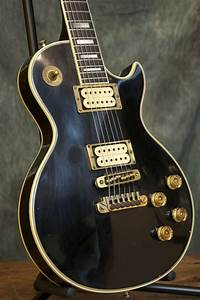 Vintage 1975 Gibson Les Paul Custom Black Beauty Guitar