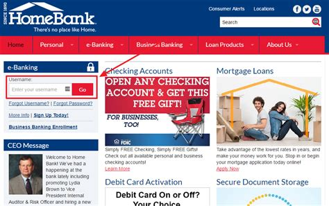 one home banking home bank banking sign in login