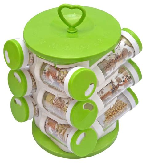 Spice Set magikware green spice container 12 pcs polycarbonate spice