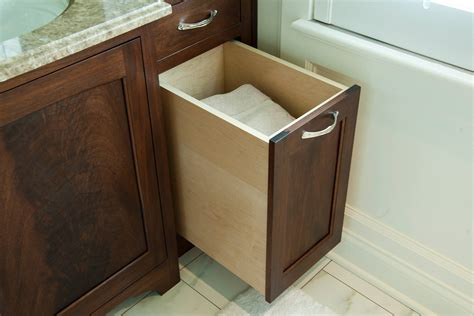Bathroom Storage With Hamper With Creative Example