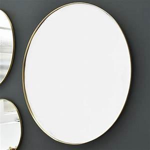 Miroir Rond Laiton : miroir rond en laiton decoclico ~ Teatrodelosmanantiales.com Idées de Décoration