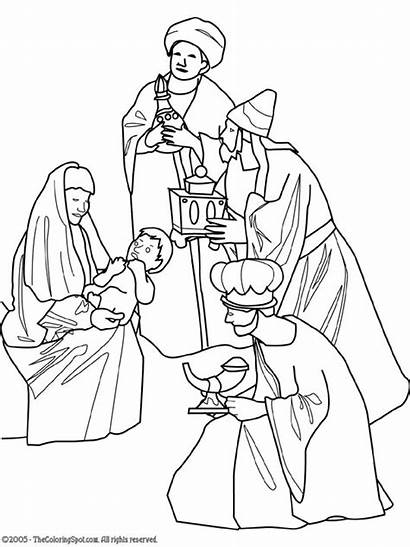 Wise Gifts Christmas Bearing Clipart Coloring Nativity