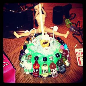 21st Birthday cake for a guy friend. 21shots and a ...
