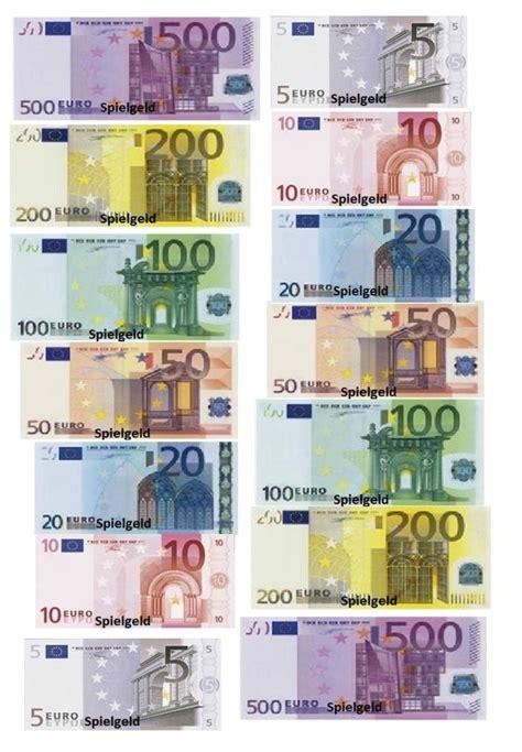 Die bundesbank bietet kostenlos ein pdf mit allen verfügbaren euromünzen und geldscheinen zum. Druckvorlage Alle Euroscheine und Münzen als Spielgeld Euro