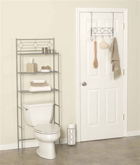 bathroom storage tower organizer shelves  toilet