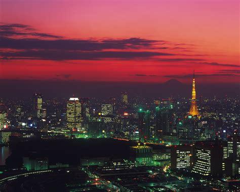 wallpaper tokyo tower nightscape tokyo japan  world