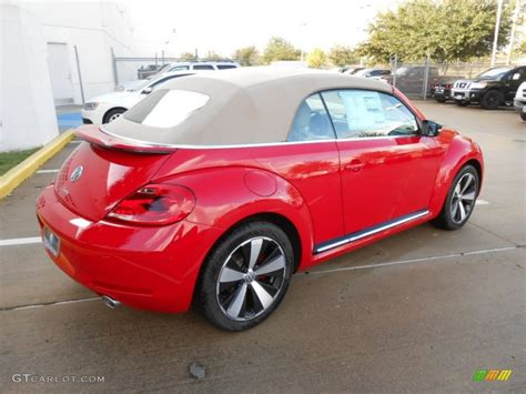 Volkswagen Beetle Convertible Red