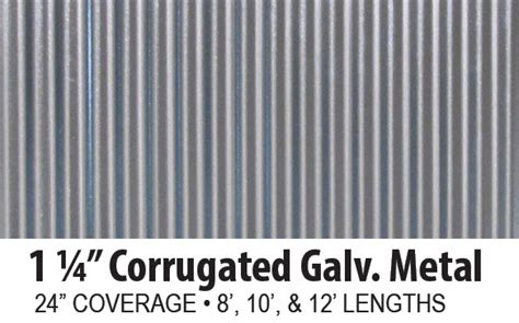 Corrugated Galvanized Steel Panels   A.B. Martin Roofing Supply
