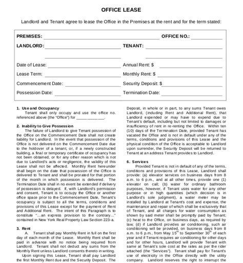 lease agreement template   word  documents