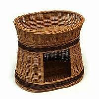 wicker pet bed two tier wicker cat bed house by prestige wicker | notonthehighstreet.com