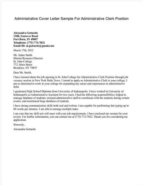 finance clerk cover letter sles executive assistant description