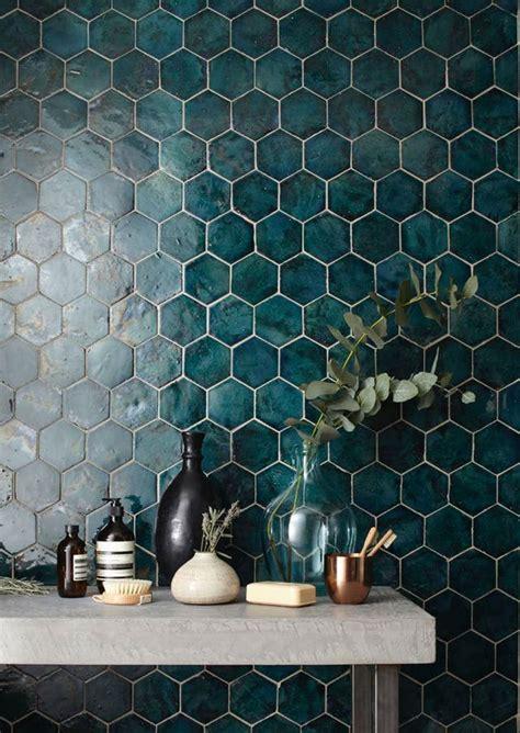 blue hexagon tiles  behance