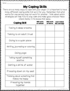 anger management worksheets printable  google
