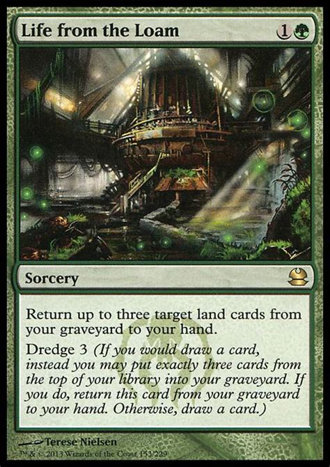 mtg dredge deck tappedout from the loam mtg card