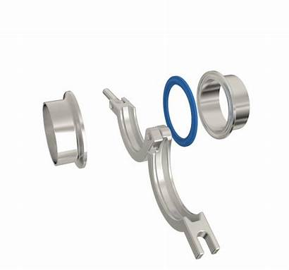 Sanitary Clamp Fittings Line Pipe Stainless Tube