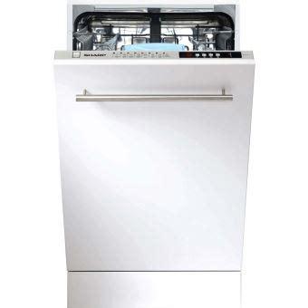 lave vaisselle sharp sharp lave vaisselle tout integrable 45 cm shar achat prix fnac